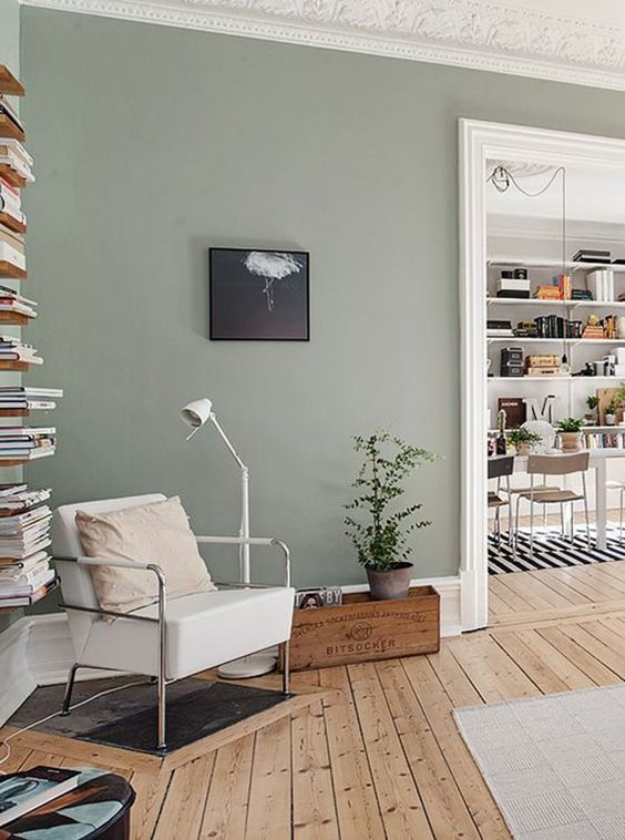 Inspiratie tips voor kleur in je woonkamer Living room ideas with light green walls